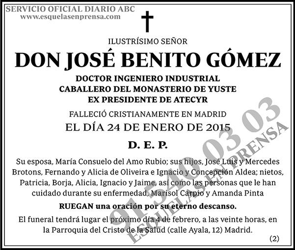 José Benito Gómez